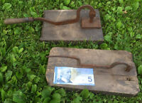 TWO ANTIQUE TOBACCO CUTTERS