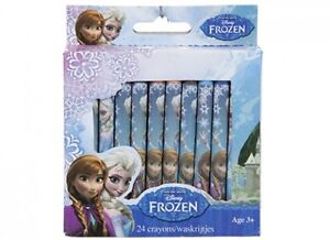 24 CRAYONS OFFICIAL DISNEY FROZEN ANNA ELSA COLOURING