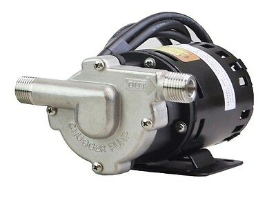 Chugger Pumps CPSS-IN-1 Brewing Stainless Steel Home Brew Beer Pump 115V Inline!