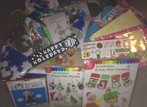 CHILDRENS CHRISTMAS CRAFT BOX (Scratch Art, Foam, Stickers, Beads etc)