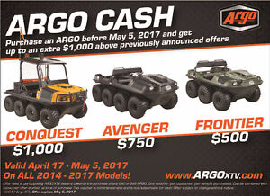 Purchase a new Argo in May and save up to $4,200*