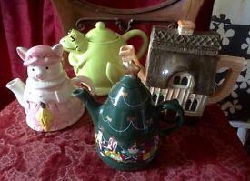 Novelty tea pots.