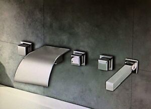 Tub fixtures (flow fountain tap & retractable hand shower)