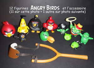 12 figurines Angry Birds