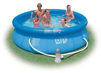 "18'x18'x48"" inflatable pool like new"