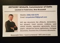 Commissioner of Oaths Fredericton NB