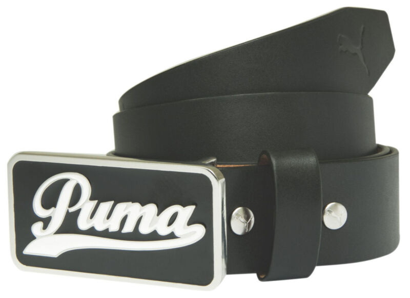 Puma Golf Youth Script Fitted Leather Belt  Junior Collection -Pick Color Size
