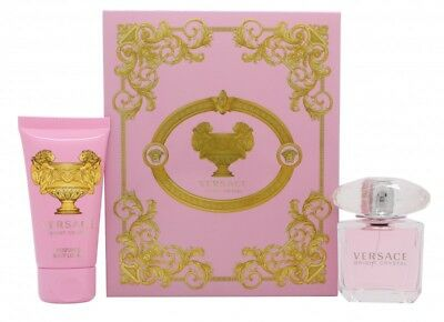 VERSACE BRIGHT CRYSTAL GIFT SET 30ML EDT + 50ML BODY LOTION - WOMEN'S FOR HER