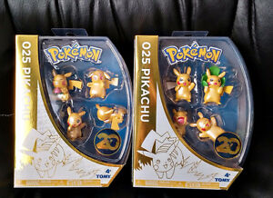 Pokemon 20th Anniversary Pikachu Shiny Figure Toy Sets