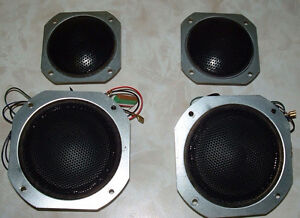 HITACHI MIDRANGE SPEAKERS AND TWEETERS VINTAGE