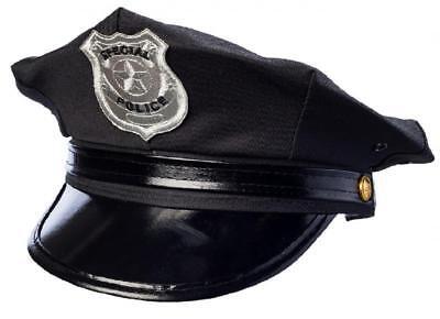 Polizei Polizeimütze Cop Cap Police Hut Mütze Kappe Kostüm Uniform Kleid Anzug ()