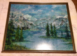Large Scenic Oil Painting