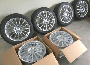 "17"" Subaru Wheel/Tire Set, RWC alloy rims, Firestone 205/50/17"