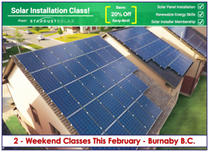 Solar installation class - Gain clean & renewable energy skills