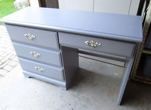 Moving- Grey Desk with 4 drawers- Exc condition.