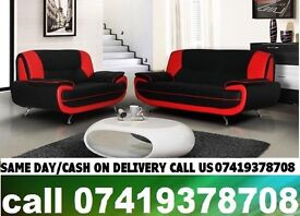 SAMAR 50 % OFF ON SALE-----CARTL WHITE AND BLACK3 And 2 SEATER SUITE