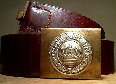Imperial German, Mint Pre-WW1, Unit Marked Prussian Enlisted Man's Belt & Buckle