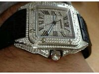 EXCLUSIVE high quality diamond encrusted cartier swiss watch