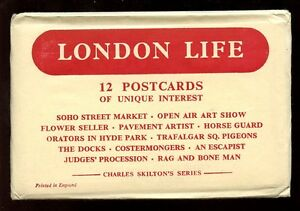 Charles-Skilton-Series-LONDON-LIFE-12-PPCs-in-original-envelope-c1940s