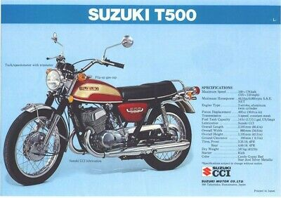 REPRO DECAL SUZUKI T500  HEADTUBE TAG