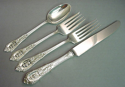 (ROSE POINT - WALLACE STERLING 4 PIECE PLACE SETTING(S)  *FRENCH BLADE*)