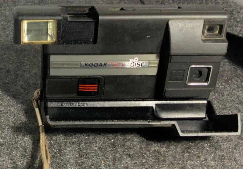 Vintage Kodak Tele Disc Camera Black Classic Look👀