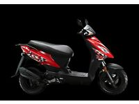 Kymco DJ50 50cc learner legal scooter, great value with 2 years parts and labour warranty included