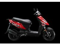 Kymco DJ50 50cc 4T scoooter, 2 years parts and labour warranty only £1,371