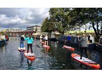 Moo Canoes – Paddle Board Paddle along the Limehouse Cut