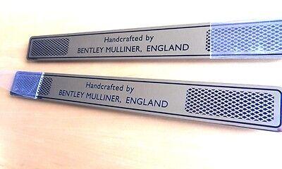 Bentley Mulliner SPECIAL HANDCRAFTED threshold / door plates      Pair / 2