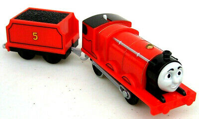 THOMAS & Friends Train Trackmaster Motorized James And Tender