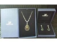 Swarovski necklace &earing set
