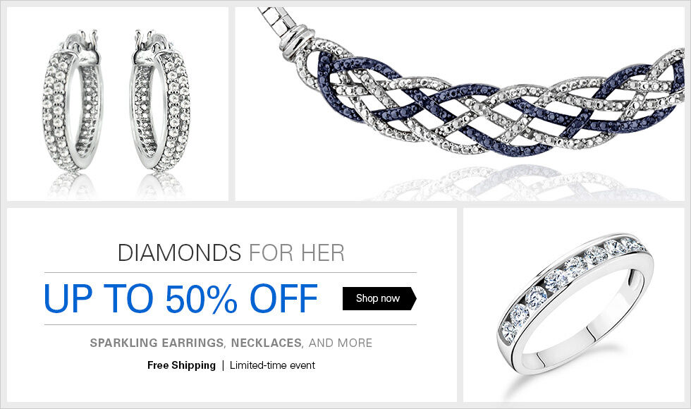 UP TO 50% OFF DIAMOND EARRINGS, AND MORE