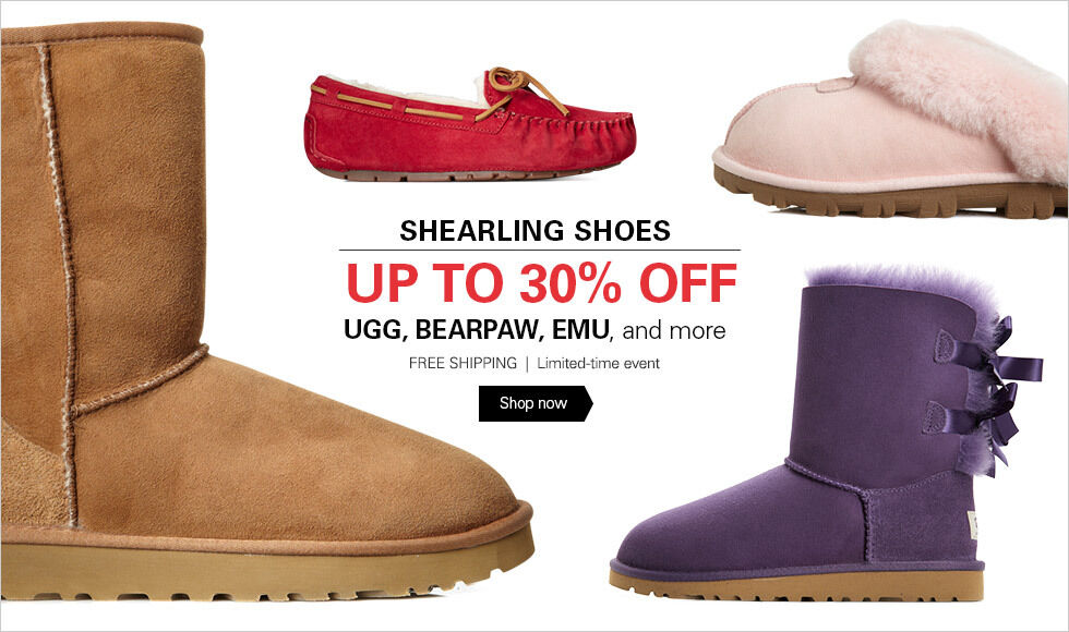 UP TO 30% OFF SHEARLING SHOES | SHOP NOW