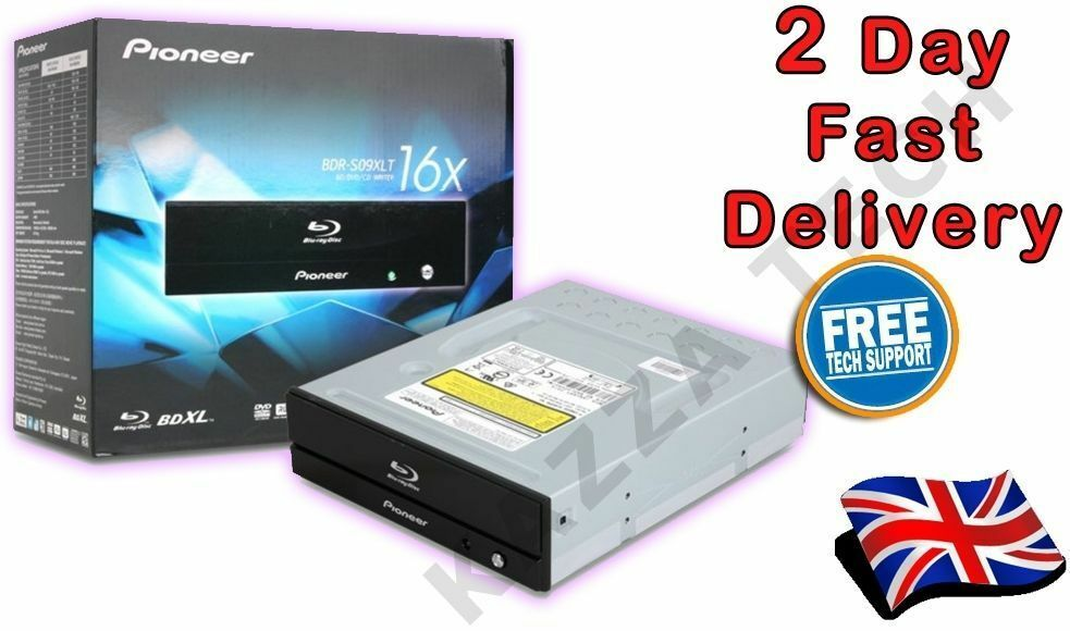 Pioneer BDR-S09XLT Internal SATA 16x Blu-Ray BD RW Reader Writer Burner BD/DVD