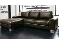 Corner sofa Nero black or brown left or right hand sofas, many more to choose from, tv bed, mattress