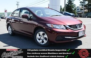 2014 Honda Civic LX Heated Seats, Bluetooth, One Owner !!