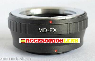 ADAPTADOR DE OBJETIVOS Minolta MD MC A FX,Fujifilm, Fuji X-Pro1, XPro1 X...
