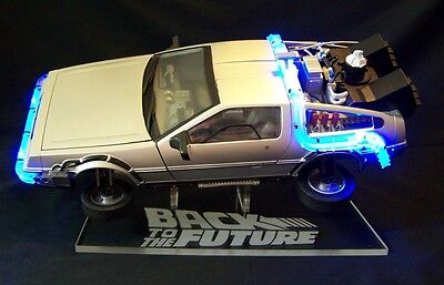 acrylic display stand for 1/15 diecast DeLorean Back to the Future in flight