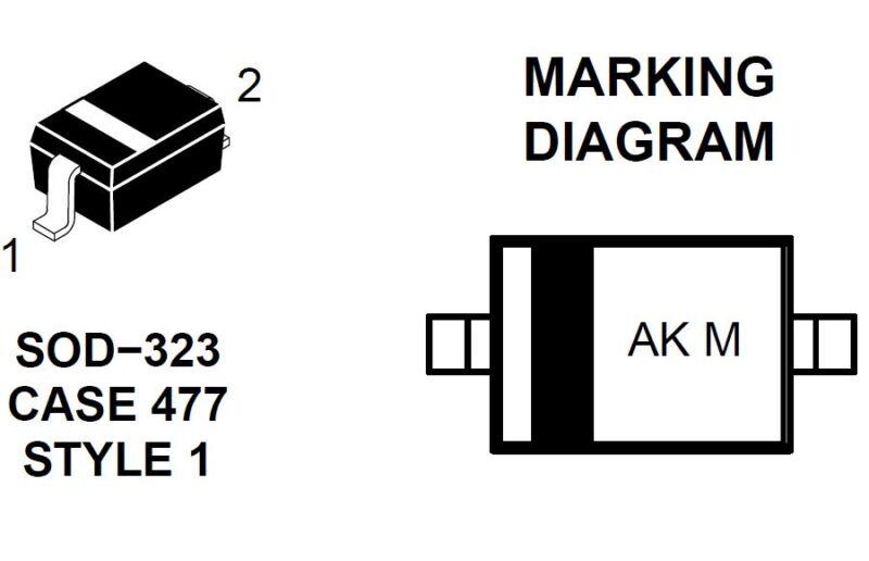 50pcs NSR0530HT SOD-323 SMD Schottky Barrier Diodes 30V 500mA 0.5A, US Seller