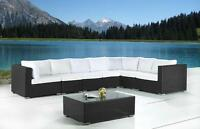 Modern Outdoor Wicker Lounge Set - Garden and Patio Furniture
