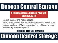 Secure Storage Units in Dunoon, Scotland. CCTV coverage 24/7, fork-lift truck services