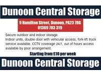 Dunoon Central Storage Units. Secure indoor and outdoor storage units for rent, Scotland.