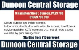 Storage Units & space to rent for Moving Home/Cars/Boats etc in DUNOON, Argyll