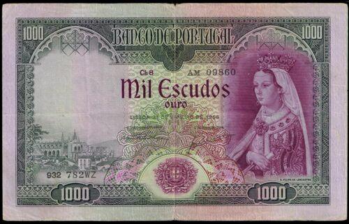 Portugal 1000 escudos PICK 161 (4) VF