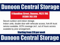 Secure Outdoor and Indoor storage in Dunoon, Argyll.
