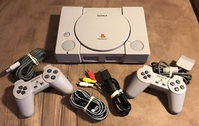 Official Sony PlayStation 1 PS1 Console Complete w 2 Controllers! Fast Shipping!