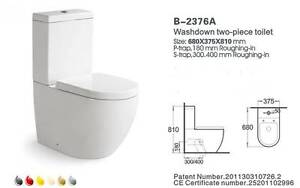 MODERN TOILET SUITE CERAMIC BACK TO WALL SOFT CLOSE - P OR S TRAP Carramar Fairfield Area Preview