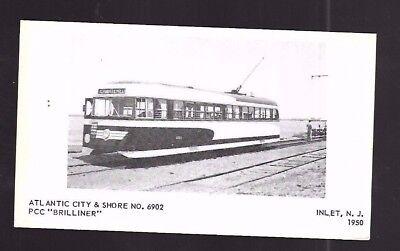 Vintage Postcard Atlantic City & Shore No 6902 Pcc Brilliner Electric Trolley