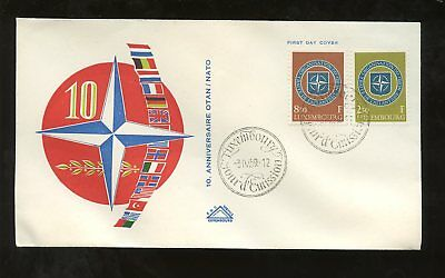 LUXEMBOURG 1959 NATO SET ILLUSTRATED FIRST DAY COVER